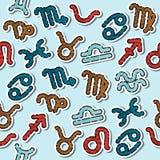 Modello colorato dello zodiaco Fotografie Stock
