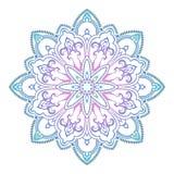 Modello colorato etnico astratto dell'ornamentale della mandala Elementi disegnati a mano di progettazione di stile orientale uni Fotografia Stock Libera da Diritti
