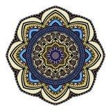 Modello colorato etnico astratto dell'ornamentale della mandala Elementi disegnati a mano di progettazione di stile orientale uni Fotografia Stock