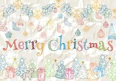 Modello colorato per il nuovo anno ed il Natale Fotografie Stock