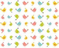 Modello Colourful degli uccelli Immagine Stock