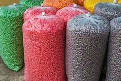 Modello Colourful del mangime per pesci Fotografia Stock