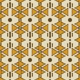 Modello composito etnico tribale senza cuciture dei triangoli e dei punti illustrazione vettoriale