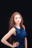 Modello con capelli rossi immagini stock