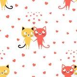 Modello con due amanti dei gatti illustrazione di stock