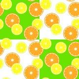 Modello con gli agrumi della fetta - limone ed arancia royalty illustrazione gratis