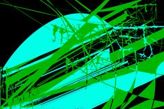 Modello con gli elementi astratti di turchese e di colori verdi illustrazione di stock