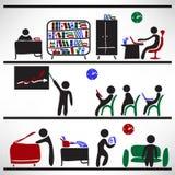 Modello con gli elementi di infographic Fotografia Stock Libera da Diritti