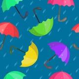 Modello con gli ombrelli luminosi Fotografia Stock