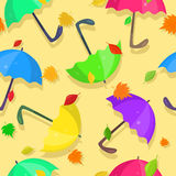 Modello con gli ombrelli luminosi Immagine Stock Libera da Diritti
