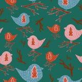 Modello con gli uccelli illustrazione di stock