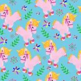 modello con gli unicorni divertenti illustrazione di stock