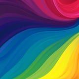 Modello con i colori di spettro visibile illustrazione di stock