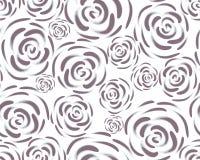 Modello con i fiori rosa su un fondo bianco Fondo floreale d'annata semplice Ornamento con i fiori rosa dipinti c Blu-grigia royalty illustrazione gratis