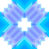 Modello con i quadrati ed i rombi Illustrazione di Stock