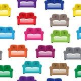 Modello con i sofà Immagini Stock