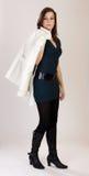 Modello con il cappotto Fotografia Stock