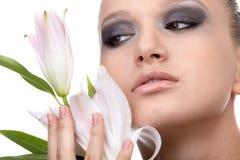 Modello con il fiore Immagini Stock