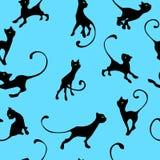 Modello con il gattino illustrazione vettoriale