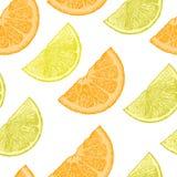 Modello con il limone e le gocce blu immagine stock libera da diritti