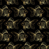 Modello con il pesce rosso Fotografia Stock
