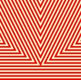 Modello con l'ornamento geometrico Fondo astratto bianco rosso a strisce Fotografia Stock Libera da Diritti
