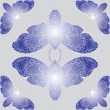 Modello con le farfalle Illustrazione Vettoriale