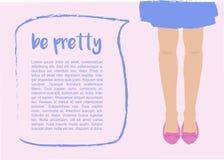 Modello con le gambe ed il fumetto delle donne Fotografia Stock Libera da Diritti