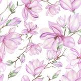 Modello con le magnolie illustrazione di stock