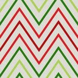 Modello con lo zigzag nei colori rossi e verdi Immagini Stock