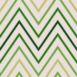 Modello con lo zigzag nei colori verdi Fotografia Stock Libera da Diritti