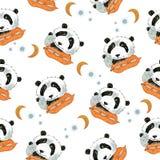 Modello con sonno divertente del panda royalty illustrazione gratis