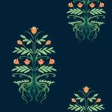 Modello con un albero del fiore royalty illustrazione gratis