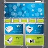 Modello concatenato di Web site Fotografia Stock