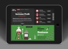 Modello-concetto del sito Web per l'applicazione mobile Immagini Stock