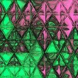 Modello continuo dei triangoli dell'acquerello Fondo moderno dei pantaloni a vita bassa fotografie stock