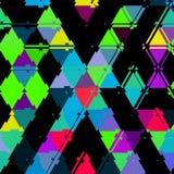 Modello continuo dei triangoli vivi variopinti Immagine Stock