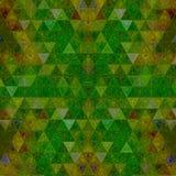 Modello continuo del triangolo nel verde andante immagini stock libere da diritti