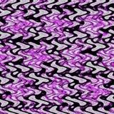 Modello continuo di zigzag astratto nero e porpora immagini stock libere da diritti