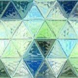 Modello continuo orizzontale dei triangoli astratti in alzavola e nella goccia del mare immagini stock