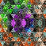 Modello continuo pazzo di scintillio variopinto del triangolo fotografie stock