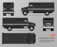 Modello corazzato nero di vettore del camion illustrazione vettoriale