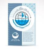 Modello corporativo dell'aletta di filatoio di affari di consegna dell'acqua Vect grafico illustrazione di stock