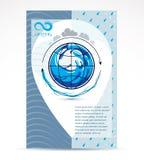 Modello corporativo dell'aletta di filatoio di affari di consegna dell'acqua Vect grafico royalty illustrazione gratis