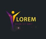 Modello corporativo di logo del vincitore di salute di successo Immagini Stock Libere da Diritti