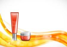 Modello cosmetico di progettazione dell'idratante della pelle illustrazione di stock
