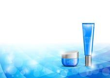 Modello cosmetico di progettazione dell'idratante della pelle royalty illustrazione gratis