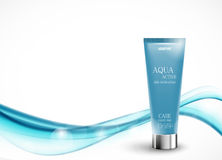 Modello cosmetico di progettazione dell'idratante della pelle immagine stock libera da diritti