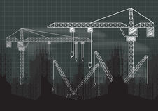 Modello in costruzione della lavagna della gru Immagine Stock