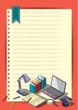 Modello creativo di progettazione della carta di vettore dell'opuscolo dell'aletta di filatoio del modello di rapporto per il inf Immagini Stock